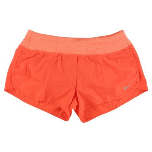 Nike Rival 3-inch Running Shorts - Red Orange
